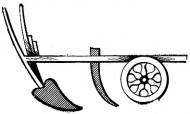 колесный плуг